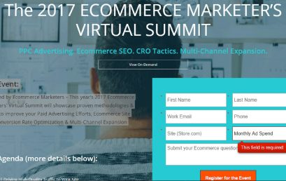 The 2017 ECOMMERCE MARKETER'S VIRTUAL SUMMIT