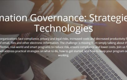 Information Governance: Strategies and Technologies