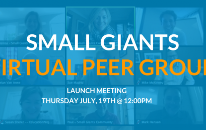 Launch Meeting: Small Giants Virtual Peer Group