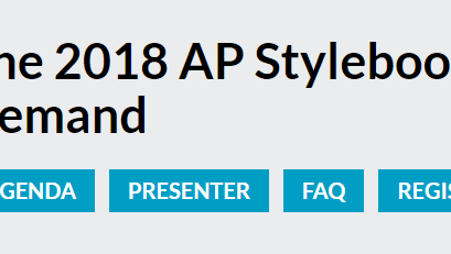 The 2018 AP Stylebook Webinar on Demand